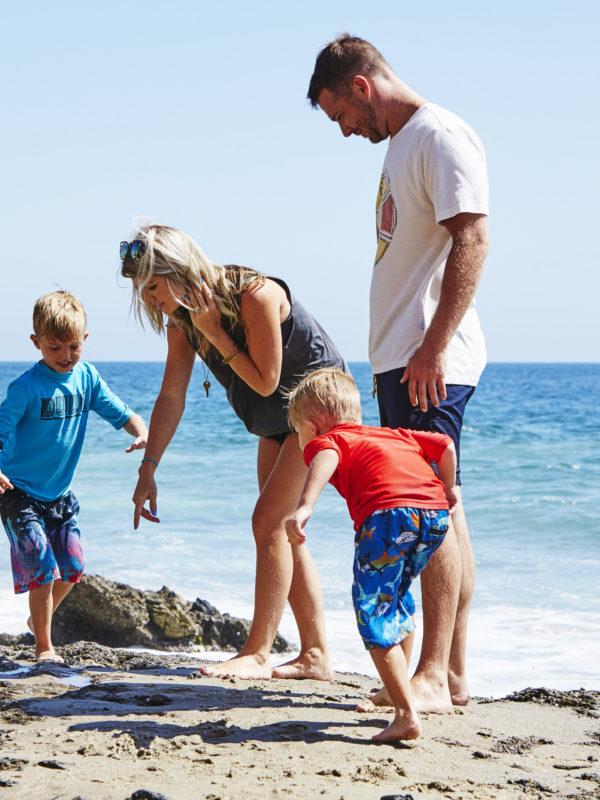 Damien, Lucas, Casey & Sabastian at the Beach